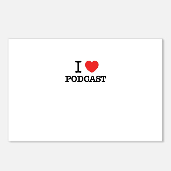 I Love PODCAST Postcards (Package of 8)