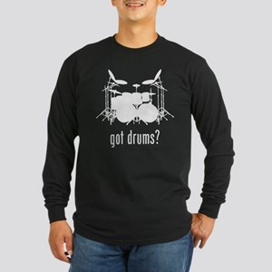 Drums Long Sleeve Dark T-Shirt