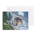 Wolf Moon Rising: Greeting Card