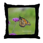 Monarch Butterfly Throw Pillow