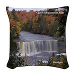 Upper Tahquamenon Falls Woven Throw Pillow