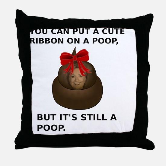 Unique Anti hillary Throw Pillow