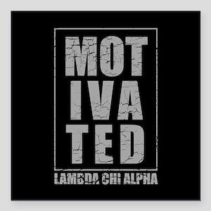"Lambda Chi Alpha Motivat Square Car Magnet 3"" x 3"""