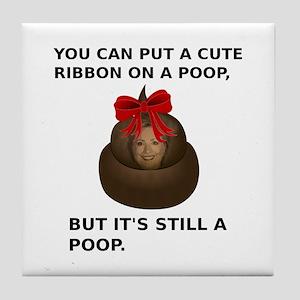 Hillary Poop Tile Coaster