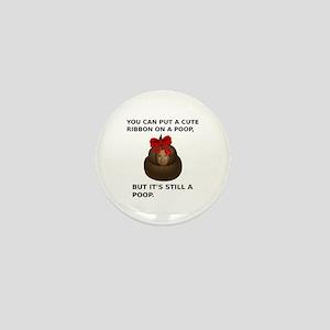 Hillary Poop Mini Button