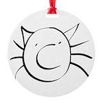 CatastropheCat Round Ornament
