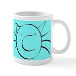 CatastropheCat aqua Mugs