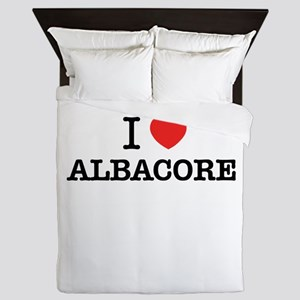 I Love ALBACORE Queen Duvet