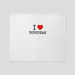 I Love TOYOTAS Throw Blanket
