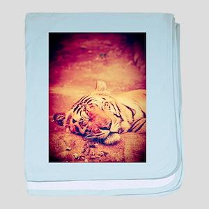 Tiger Wildcat baby blanket