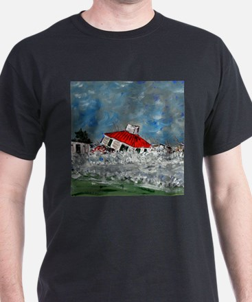 Lighthouse In Storm T-Shirt