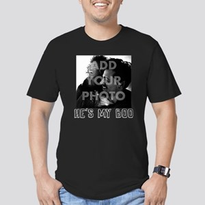 He's My Boo Personaliz Men's Fitted T-Shirt (dark)