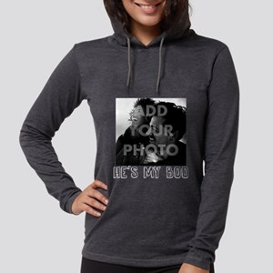 He's My Boo Personalized Womens Hooded Shirt