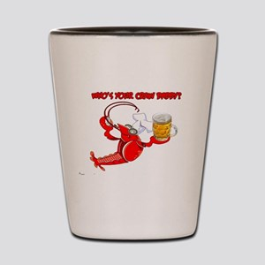 Funny Crawfish Shot Glass