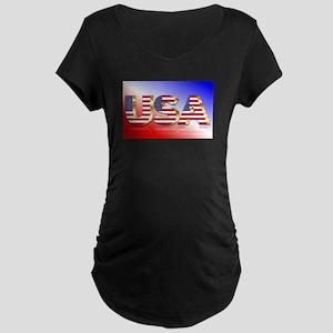 America Flag Maternity T-Shirt
