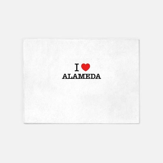 I Love ALAMEDA 5'x7'Area Rug