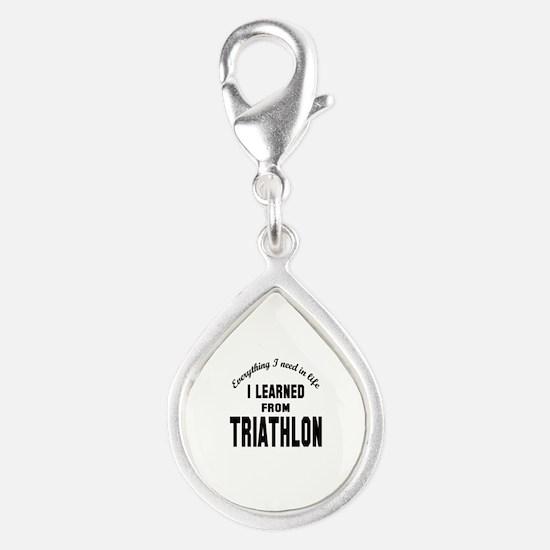 I learned from Triathlon Silver Teardrop Charm