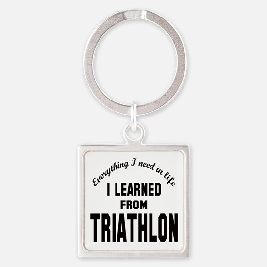 I learned from Triathlon Square Keychain