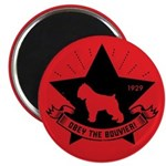 Obey the Bouvier! Dog Star Magnet