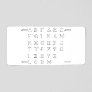 Greek Alphabet Isolated Aluminum License Plate