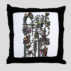 Complicated Business Machine Throw Pillow