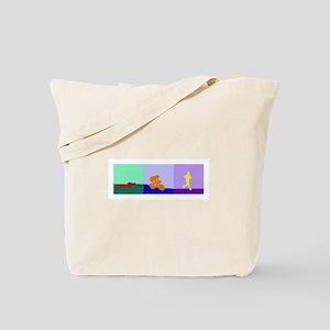 TRIATHLON TRIPTYCH PAINTING LIGHT Tote Bag