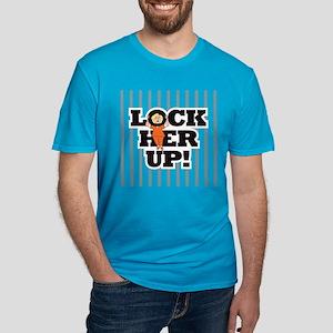Lock Her Up! Men's Fitted T-Shirt (dark)