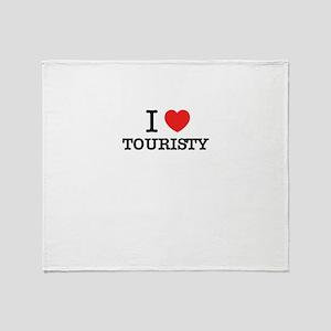 I Love TOURISTY Throw Blanket