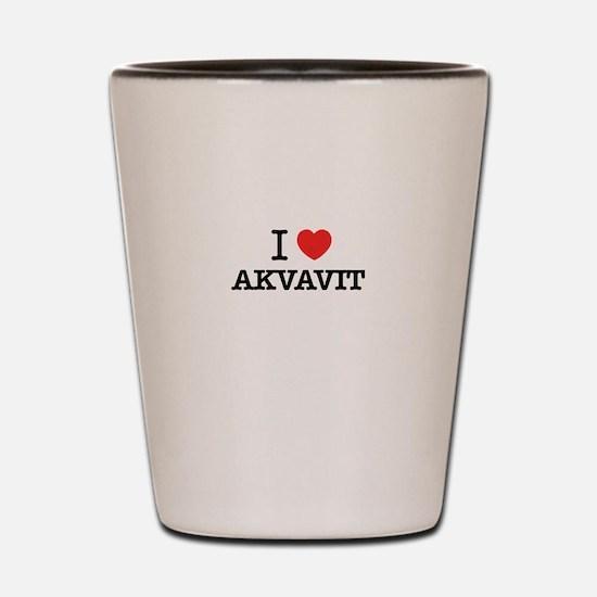 I Love AKVAVIT Shot Glass
