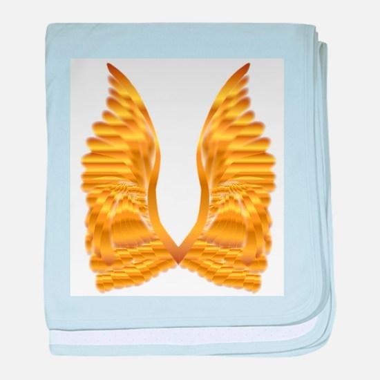 Gold Angel Wings baby blanket