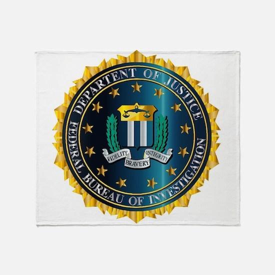 FBI Seal Mockup Throw Blanket