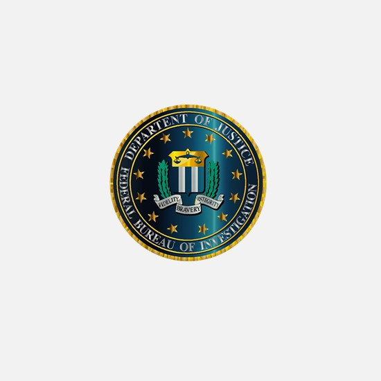 FBI Seal Mockup Mini Button