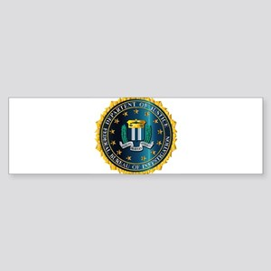 FBI Seal Mockup Bumper Sticker