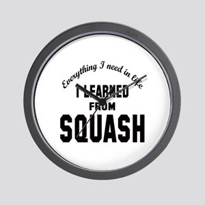 I learned from Squash Wall Clock