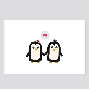 Penguins in love Postcards (Package of 8)