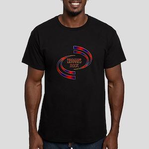Libraries Rock Men's Fitted T-Shirt (dark)
