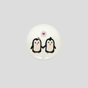 Penguins in love Mini Button