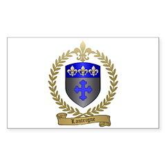 LANTEIGNE Family Crest Rectangle Decal