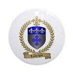 LANTEIGNE Family Crest Ornament (Round)