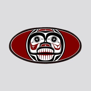 Northwest Pacific coast Haida Weeping skull Patche