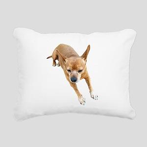 Chiweenie On Break Rectangular Canvas Pillow
