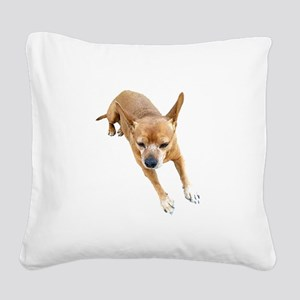 Chiweenie On Break Square Canvas Pillow