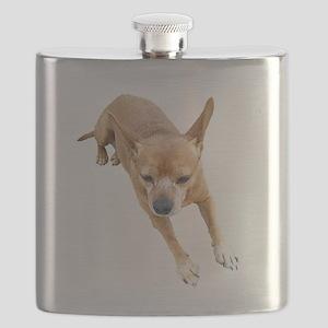 Chiweenie On Break Flask