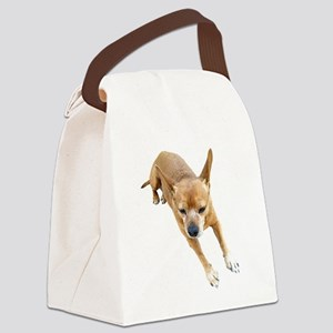 Chiweenie On Break Canvas Lunch Bag