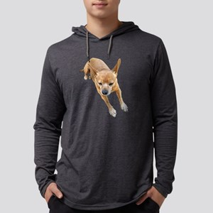 Chiweenie On Break Mens Hooded Shirt