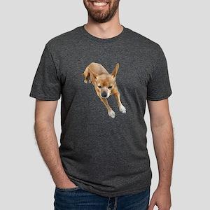 Chiweenie On Break Mens Tri-blend T-Shirt