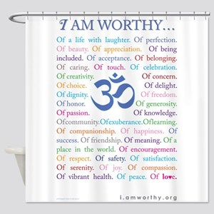 Om affirmations Shower Curtain
