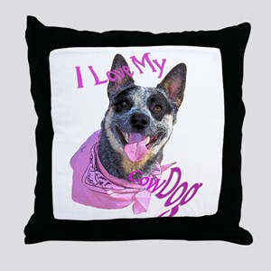 """CowDog's"" Throw Pillow"