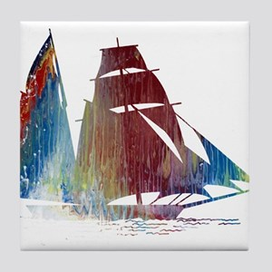 Sailing ship Tile Coaster