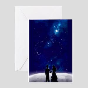 Walking on the Moon Greeting Card